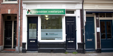 Our veterinary clinic at the Frederik-Hendrikstraat in Amsterdam Oud-West